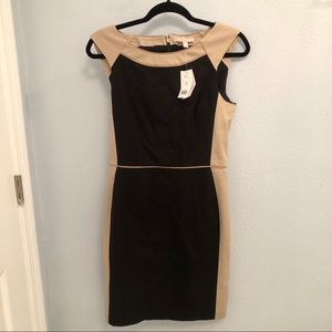 NWT Banana Republic Black and Tan Dress